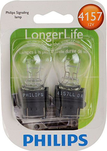 Philips 4157 LongerLife Miniature Bulb, 2 Pack