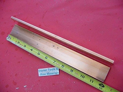 "2 Pieces 1/4""x 1-1/2"" C110 COPPER BAR 12"" long Solid Flat .25"" Bus Bar Stock H02"