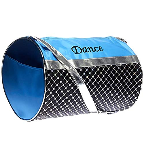 Girls Dance Turquoise Black and Silver Sequin Duffel ()