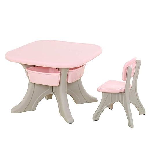 ZHAOHUI - Juego de Mesa y sillas para niños (plástico, extraíble ...