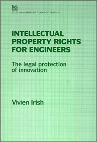 Book Intellectual Property for Engineers (IEE Management of Technology)