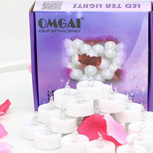 OMGAI 24 PCS LED Tea Lights Candles Battery-Powered Small Bright Flickering Flameless Candles for Home Decoration - Cool White by OMGAI (Image #6)