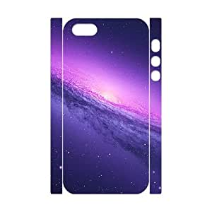 3D Vety Blue Galaxy View Case for IPhone 5,5S, with White