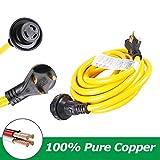 Trek Power 30Amp RV Extension Cord, Heavy Duty Outdoor Power Cord for RV,125V/250V for Trailer Motorhome Camper(25ft)
