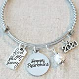 2020 RETIREMENT Gift Bangle Bracelet, Find Joy in the Journey Congratulations Gift, 2020 Retirement Bracelet, Happy Retirement Gifts for Women