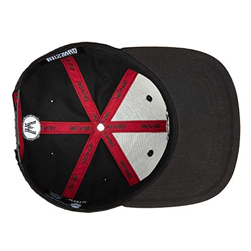 JINX-World-of-Warcraft-Blackout-Horde-Snapback-Baseball-Hat-Black-One-Size
