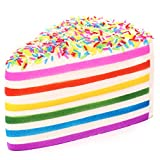 Aolige New Jumbo Colorful Squishy Colossal Triangle Cake Sugar Cream Super Squishies Slow Rising Scented Bread Squeeze Toy Gift 1 PC Random