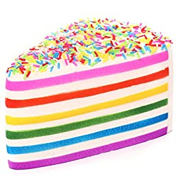 Rainbow Cake Squishy | Slow Rising Jumbo Squishy 8