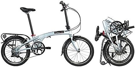 Dahon bicicleta plegable qix D8 Brillant Silver: Amazon.es ...