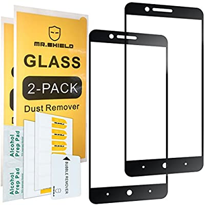 [2-PACK]-Mr Shield For ZTE Sequoia Blade [Tempered Glass] [Full Cover] Screen Protector with Lifetime Replacement Warranty from Mr Shield