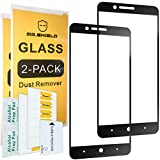 [2-Pack]-Mr Shield for ZTE Blade Z Max [Tempered Glass] [Full Cover] [Black] Screen Protector with Lifetime Replacement Warranty