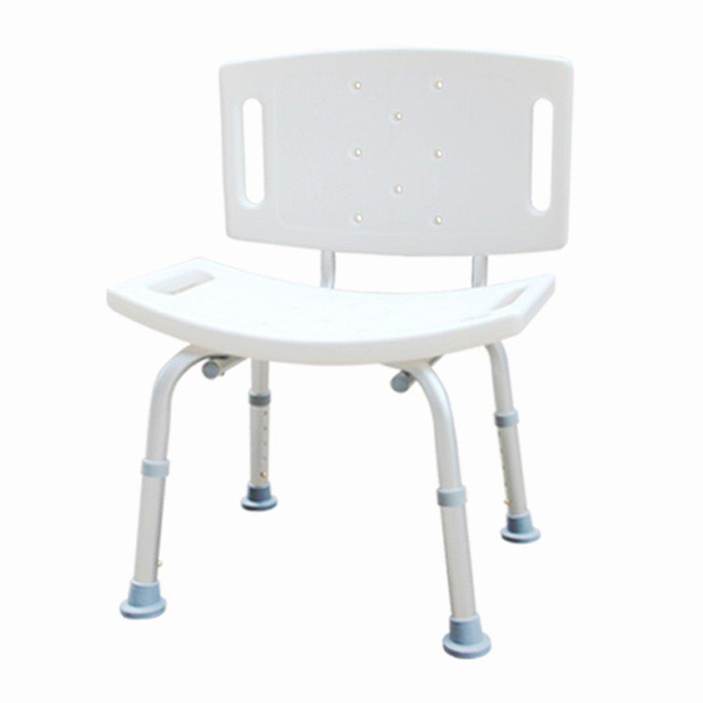 WSSF- シャワーチェア 高齢者のバスルームトイレシャワー椅子背もたれの高さ調節可能な滑り止め厚いバリアフリー妊婦不能の水着、49 * 25 * 67-77センチメートル B07BFVDC2X