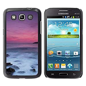 Be Good Phone Accessory // Dura Cáscara cubierta Protectora Caso Carcasa Funda de Protección para Samsung Galaxy Win I8550 I8552 Grand Quattro // Sea Sunset Purple Waves Nature Summe