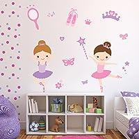 azutura Ballerina Wall Sticker Set Ballet Dance Wall Decal Girls Bedroom Nursery Decor available in 8 Sizes