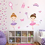 Ballerina Wall Sticker Set Ballet Dance Wall Decal Girls Bedroom Nursery Decor available in 8 Sizes XXX-Large Digital