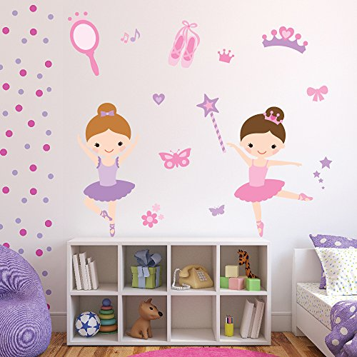 Ballerina Wall Sticker Set Ballet Dance Wall Decal Girls Bedroom Nursery Decor available in 8 Sizes XXX-Large Digital by IconWallStickers