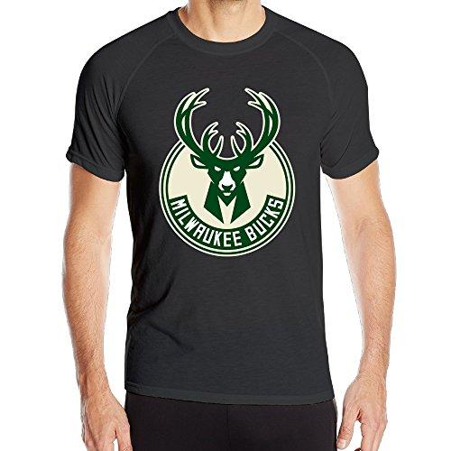 - Annabelle Men's Milwaukee Buck Short Sleeve Sports New Style T-shirts Black XXL