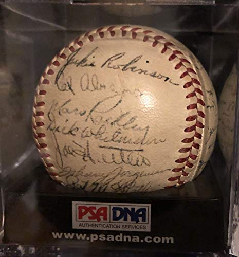 1949 Brooklyn Dodgers Team Autographed Signed Baseball Jackie Robinson Pee Wee Reese - Authentic Memorabilia (Autographed Dodgers Brooklyn Baseball)