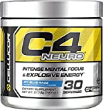 Cellucor C4 Neuro Energy Formula for Gamers, Icy Blue Razz, 30 Servings