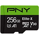 PNY Elite-X microSD 256GB, U3, V30, A1, Class 10, up to 100MB/s – P-SDU256U3100EX-GE