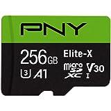 PNY Elite-X microSD 256GB, U3, V30, A1, Clase 10, hasta 100MB/s - P-SDU256U3100EX-GE, 256 GB