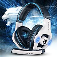 7.1 Surround Sound Effect Sades SA-903 Build in Sound Card Gaming Headset Headphone With Micphone For PC Laptop Mac