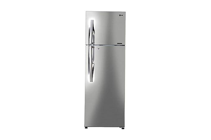 LG 284 L 3 Star Frost Free Double Door Refrigerator(GL-C302RPZU.APZZEBN, Shiny Steel, Inverter Compressor)