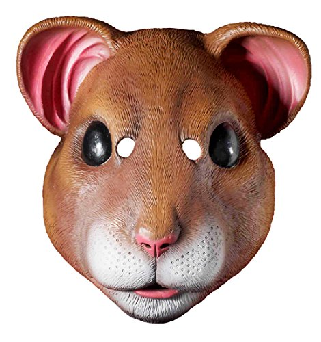 Mouse Mask Costume (Forum Novelties Latex Hamster Mask, Brown, One Size)