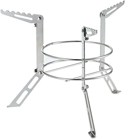 Outdoor Camping Stove Burner Stand Cross Stainless Alcohol Stove Rack Portable
