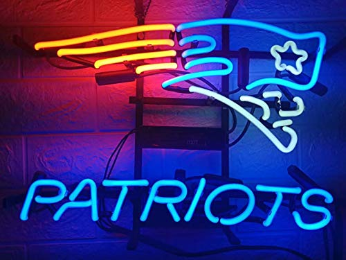 Neon Patriots Sign - LDGJ Neon Signs Patriots Light Sign Home Beer Bar Pub Recreation Room Game Lights Windows Glass Wall Sign Party Birthday Bedroom Bedside Table Decoration