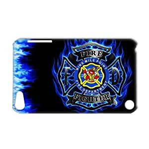 3D Print US Firefighter Logo Theme Case Cover for IPod Touch 5- Personalized Hard Cell Phone Back Protective Case Shell-Perfect as gift