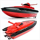 CooleedTEK 11.5 Inch Chargable RC Boat, High Speed Electric Big Size Remote Control Boat Speed up to 15-20km/h, Red(Only Works In Water)