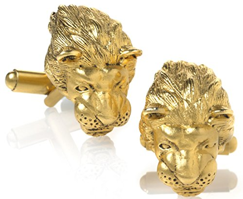 Father's Day Sale - Lion Head Cufflinks, 3 Dimensions, From Our Museum Store Collection