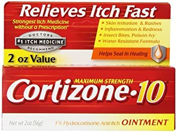 Cortizone-10 Anti-Itch Ointment 2 OZ - Buy Packs and SAVE (Pack of 4)