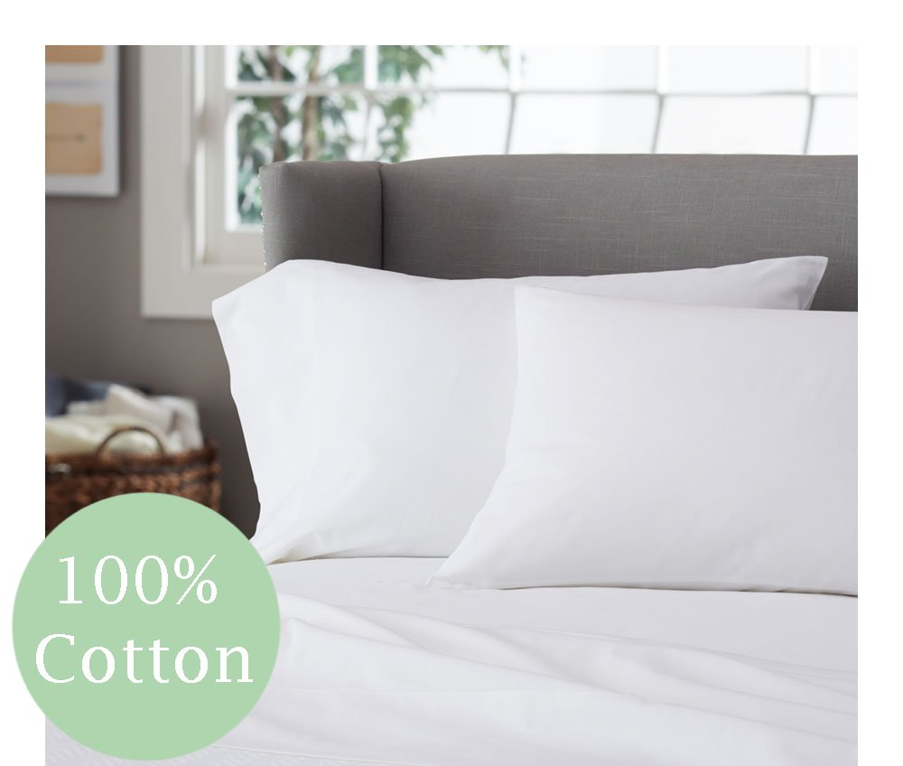 100% Cotton White Waterbed Sheet Set - Made in the USA (Queen 60'' x 84'')