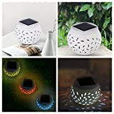 Solar Table Lights Outdoor, Color Changing Solar