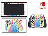 Princess Cinderella Belle Ariel Sleeping Beauty Video Game Vinyl Decal Skin Sticker Cover for Nintendo Switch Console System