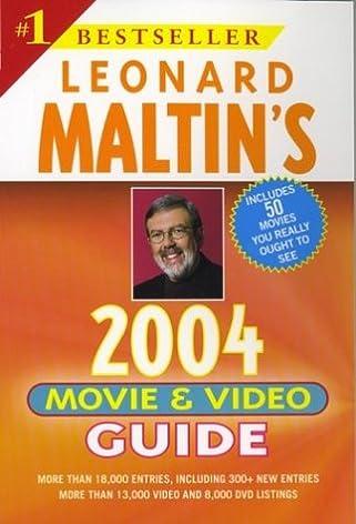 leonard maltin s movie and video guide 2004 leonard maltin s movie rh amazon com leonard maltin 2015 movie guide for sale Mickey Rourke