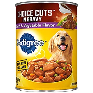 PEDIGREE CHOICE CUTS in Gravy Adult Canned Wet Dog Food Lamb & Vegetable Flavor, (12) 22 oz. Cans