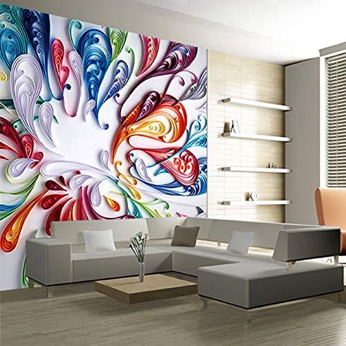 Wpchou Peinture Murale 3d Abstrait Coloré Créatif