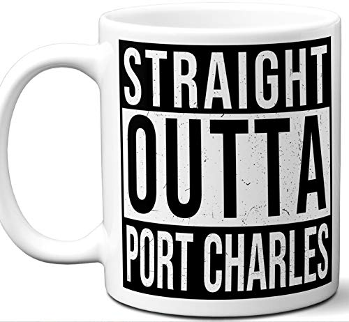 Gift Mug For General Hospital and Port Charles Soap Operas Fan. Straight Outta Port Charles. Funny Him Her Coffee Tea Women Men Birthday Christmas Fathers Day Mothers Day.