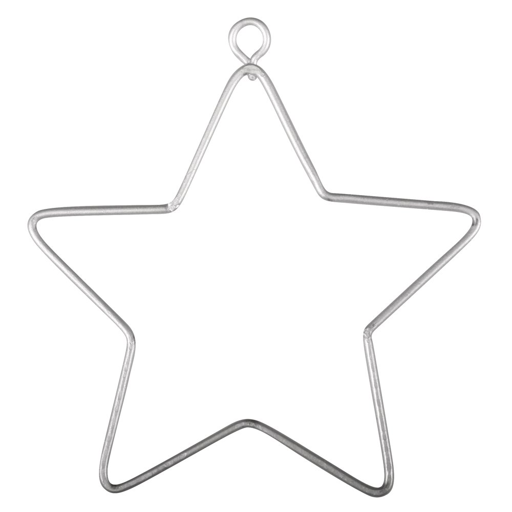 3 Small Hanging Wire Stars for Decoration - 7cm | Metal Wire & Craft Hoops Crafty Capers