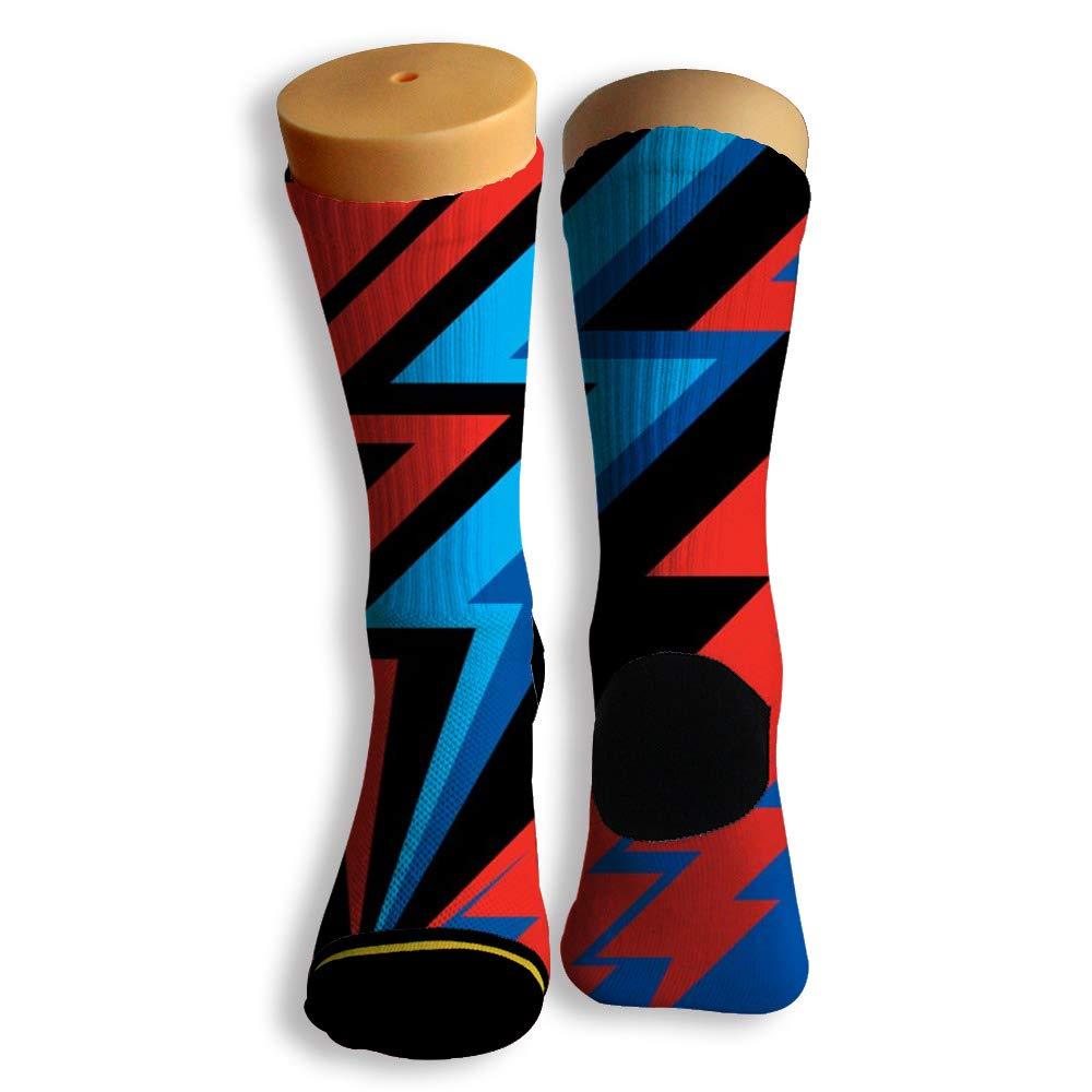 Basketball Soccer Baseball Socks by Potooy Flash Lightning Illustrations 3D Print Cushion Athletic Crew Socks for Men Women