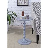Convenience Concepts Palm Beach Accent End Table, Gray