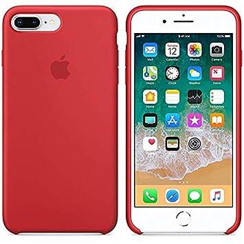 Desconocido Funda para iPhone, Silicona Roja Logo Apple Carcasa iPhone Rojo (iPhone 7/8)