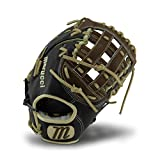 Marucci MFGHG125FB-KR-LH Honor the Game Series Baseball Fielding Gloves, Black/Gumbo, 12.5''