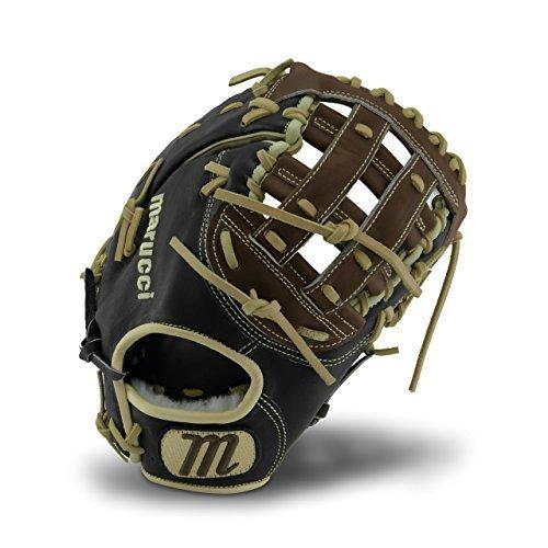 Marucci MFGHG125FB-KR-LH Honor the Game Series Baseball Fielding Gloves, Black/Gumbo, 12.5'' by Marucci