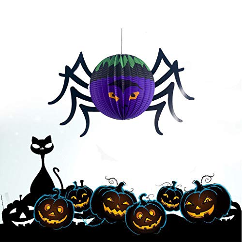 Shan-S Halloween Hanging Toy,Cute Fashion Halloween Spider Pumpkins Pendant Bar Atmosphere Decorated Paper Hang Indoor/Outdoor for Wedding Birthday Party Ceiling Decor Toy Kids Gifts