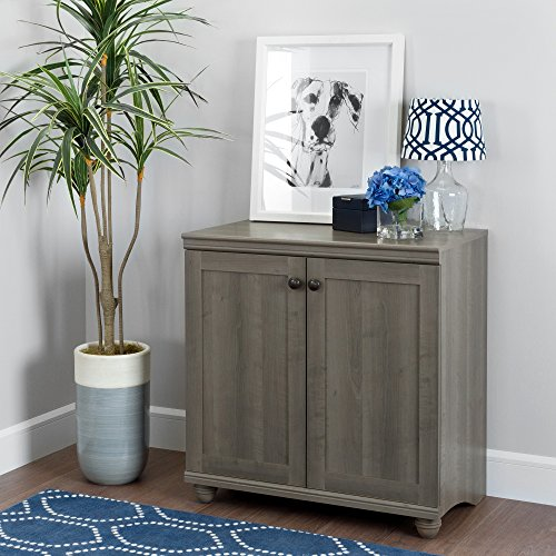 (South Shore 10323 Small 2-Door Storage Cabinet with Adjustable Shelf, Gray Maple)