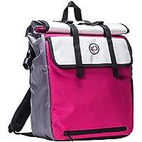 Case-It Laptop Backpack 2.0 with Hide-Away Binder Holder (Magenta / Pink)